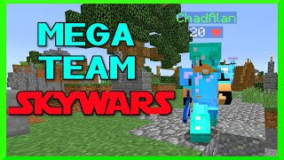 Minecraft - Mega Team SKYWARS with Gamer Chad - Enchanted Diamond Bling