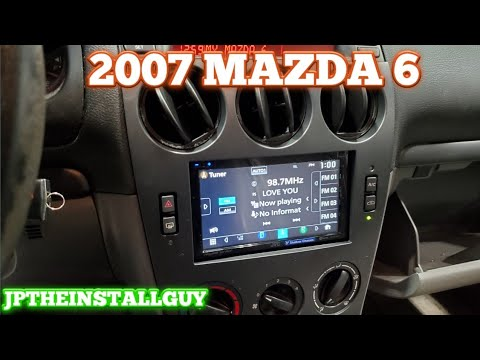 2006 2007 2008 Mazda 6 Radio Removal And Jvc Double Din Install