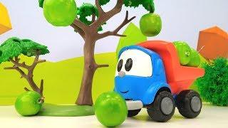 Грузовичок Лева и мультики с машинками! Детское видео с игрушками! #МашинкаЛева рассыпал яблоки! 🍎 🍏