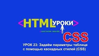 Таблицы CSS
