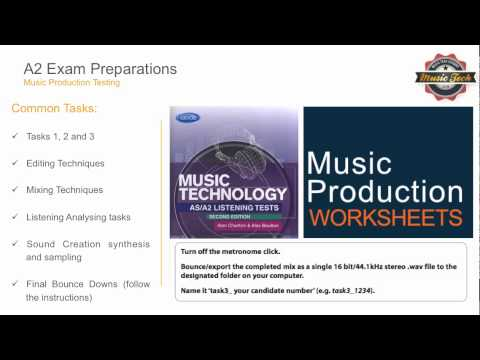 A2 Music Tech Exam Revision Guide - Producing under controlled conditions