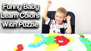 Funny Baby Learn Colors With Puzzle Animals For Kids & Nursery Rhymes | Cartoon central