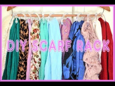 diy scarf rack display organizer aprilathena7