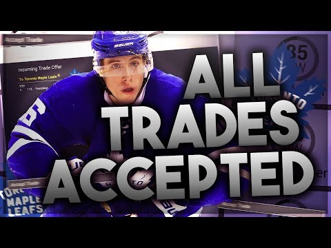 ACCEPTING ALL TRADES WITH THE TORONTO MAPLE LEAFS! (NHL 17 FRANCHISE MODE CHALLENGE)