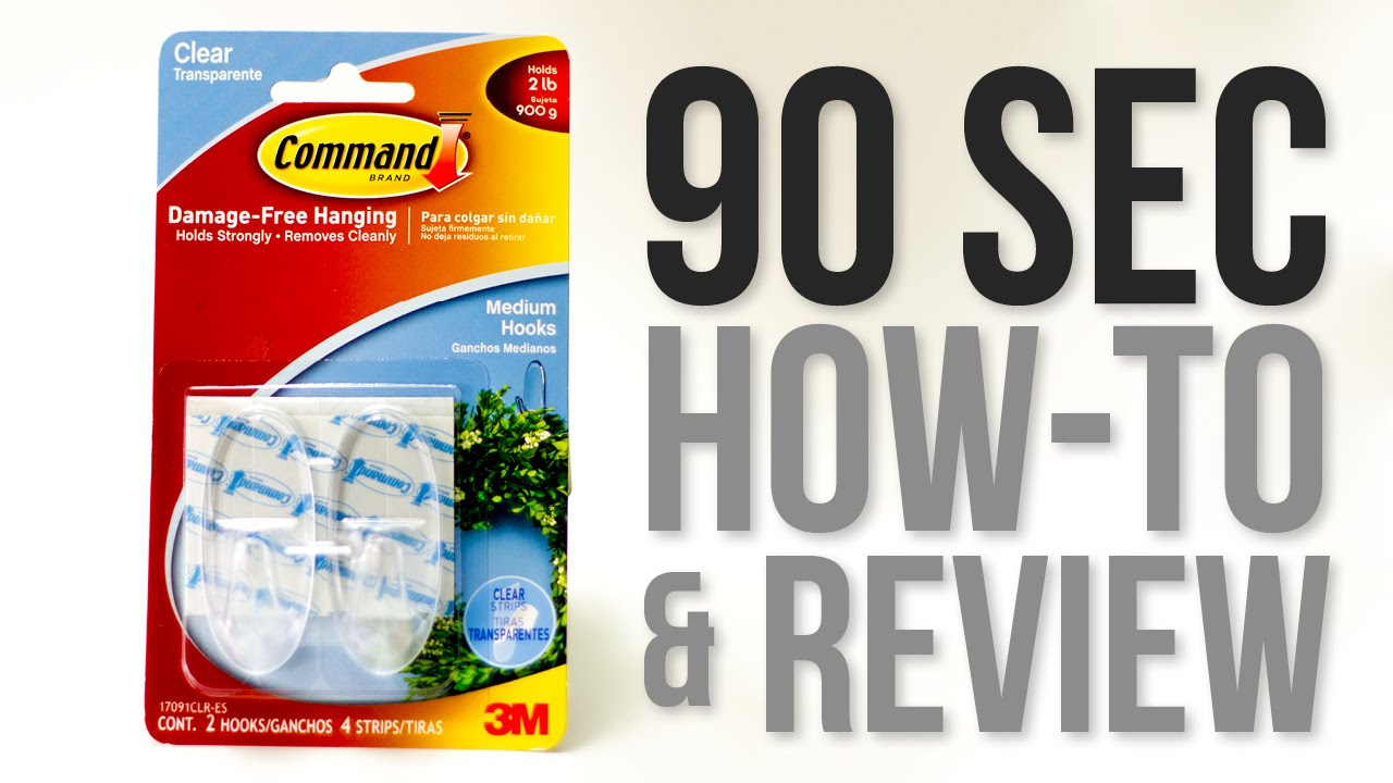 90 Second How-to & Review: 3M - Command Brand Damage Free Hanging ...