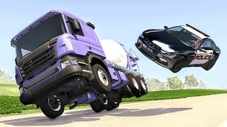 Crazy Police Chases #59 - BeamNG Drive Crashes