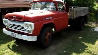 1960 F600 Ford Dump Truck Startup