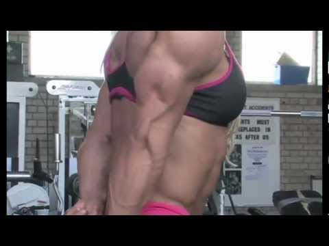 Lisa Cross Hot Attire Physical Exercises in the Gym
