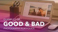 Examples of Good and Bad Photography Portfolios