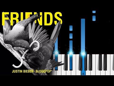 Justin Bieber - Friends (with BloodPop) - EASY Piano Tutorial