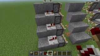 Как сделать САМУЮ легкую выдвижную лестницу в Minecraft 1.5.2