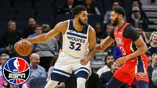 Karl-Anthony Towns, Andrew Wiggins lead Timberwolves vs. Pelicans | NBA Highlights