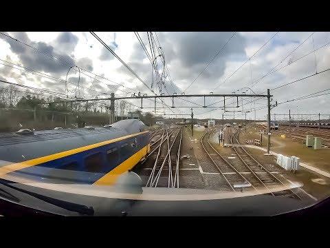 4K Cab Ride NL Deventer - Amersfoort - Schiphol - Shunting Area // IC 1648 // 19-02-2019