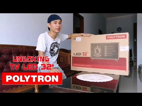 UNBOXING & REVIEW TV LED POLYTRON 32 Inch