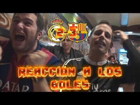 REACCIONES A LOS GOLES DEL REAL MADRID 2-3 FC BARCELONA | 23 ABRIL 2017 by SergioLiveHD