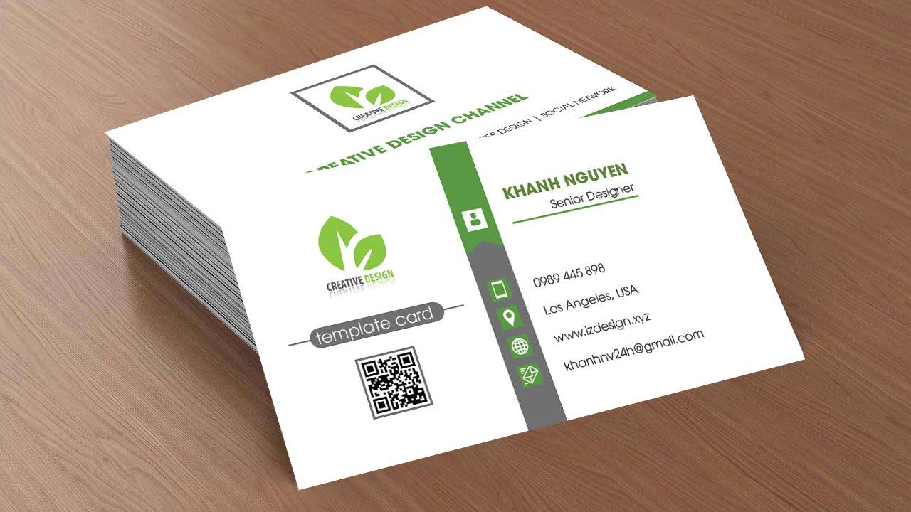 Business card design #10 - Photoshop Tutorials - YouTube