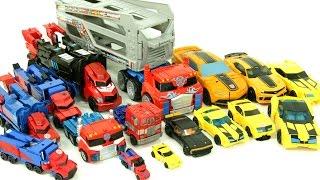 Transformers Autobot Optimus Prime Bumblebee 16 Cars Robot Car Toys 트랜스포머 범블비 옵티머스프라임 16대 장난감 변신 동영상