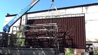 видео Кованые ворота в Тюмени