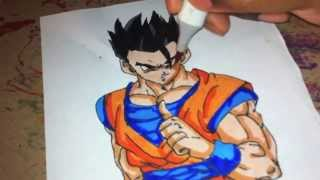 How To Color Dragon Ball Z Mystic Gohan