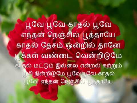 Poove Poove - Sithu (with Lyrics)
