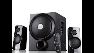 best bass F&D A350U 2.1 Multimedia Speakers - Black unboxing