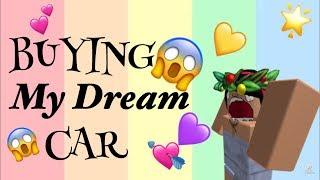BUYING MY DREAM CAR || ROBLOX Bloxburg || Eva xoxo💜