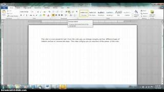 Power Of The Ruler in Microsoft Word