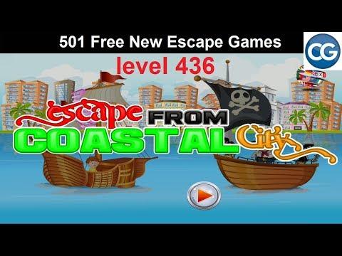 [Walkthrough] 501 Free New Escape Games Level 436 - Escape From Coastal City - Complete Game