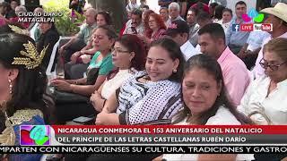 Nicaragua conmemora 153 aniversario del natalicio del príncipe de las letras castellanas Rubén Darío
