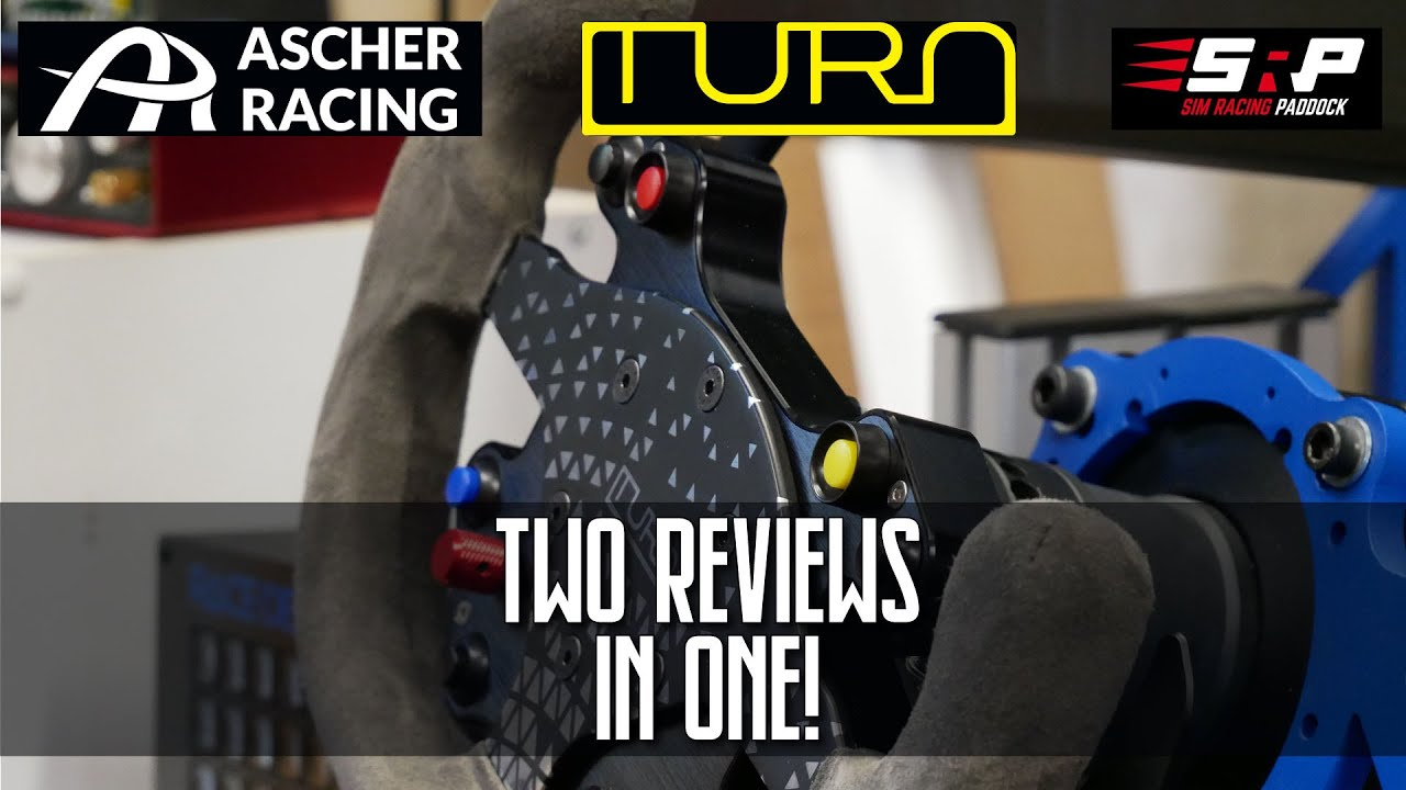Double Review: Ascher Racing B16L-SC Button Box and Turn Racing R20  Steering Wheel