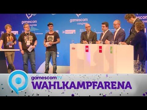 Wahlkampfarena | Gamescom 2017 mit Colin, LeFloid & Pietsmiet - Politiker über die Videospielkultur