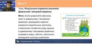 Українська мова. 4 клас. Особливості вивчення теми «Іменник»