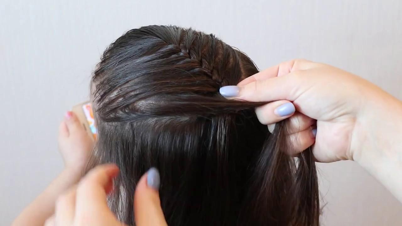 Simple braid. Easy hairstyles/ for beginners   YouTube