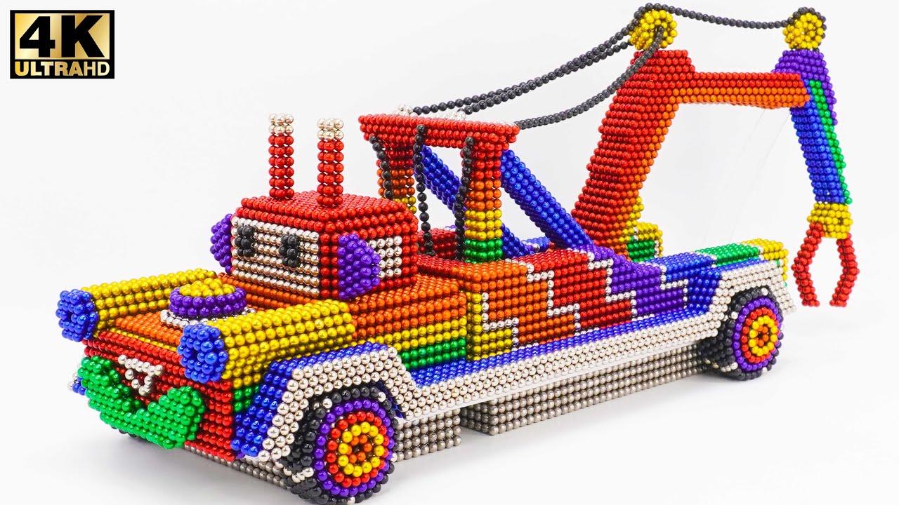 DIY - كيفية صنع السيارات من الكرات المغناطيسية   ASMR Satisfying Video