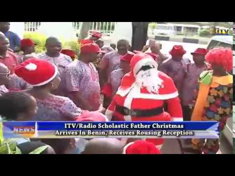 ITV/Radio Scholastic Father Christmas arrives Benin, receives rousing reception
