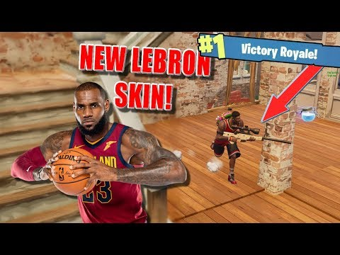 LEBRON JAMES PLAYS FORNITE! (Fortnite Lebron Skin)