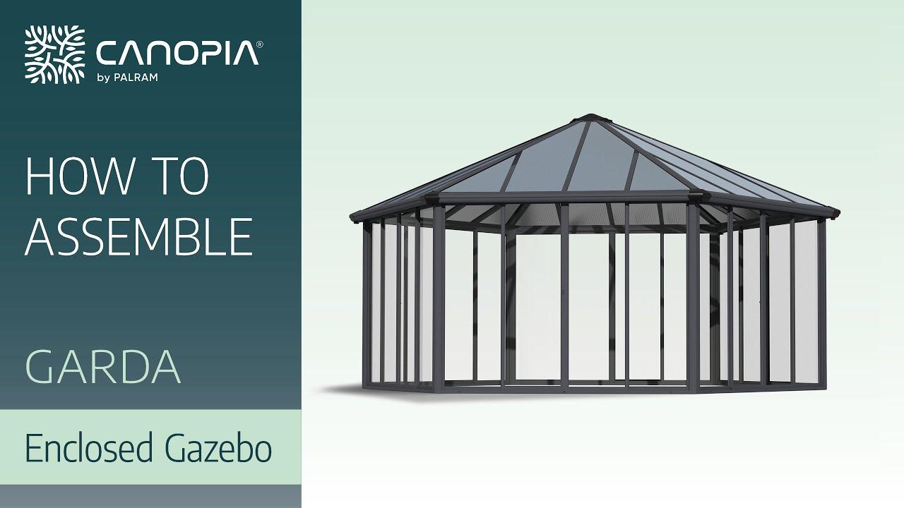 Palram Gartenpavillon Garda (5,95 x 5,17 m, Dachstärke: 16