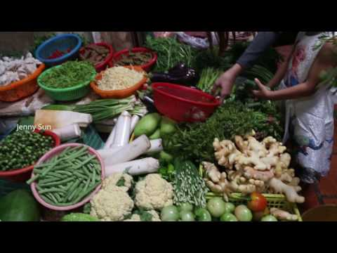 Asian Market Street Food- Art Of Living In Cambodian Market
