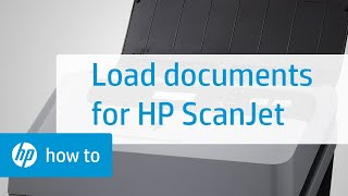 Loading documents into the HP Scanjet Enterprise Sheet-feed Scanners   HP Printers   HP