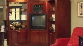 3 Way Rotating Mahogany Custom Tv Cabinet