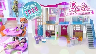 🎁NEW Barbie Hello Dreamhouse Assembly & TOUR & SPECIAL ENDING!!**