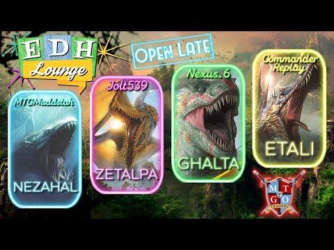 The EDH Lounge: Zetalpa (Jolt), Ghalta (Nexus_6), Etali (Com Replay), Nezahal (Muddstah)