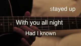 The Fray How To Save A Life Acoustic Cover Lyrics Karaoke Youtube