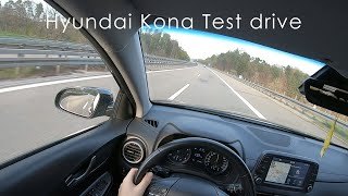 2019 HYUNDAI KONA 1.6 T-GDI 177HP | TEST DRIVE ON GERMAN AUTOBAHN