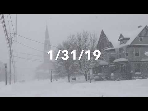 Snow Storm Blankets Watertown, NY 1/31/19