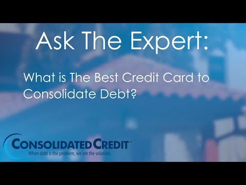 What is The Best Credit Card to Consolidate Debt?