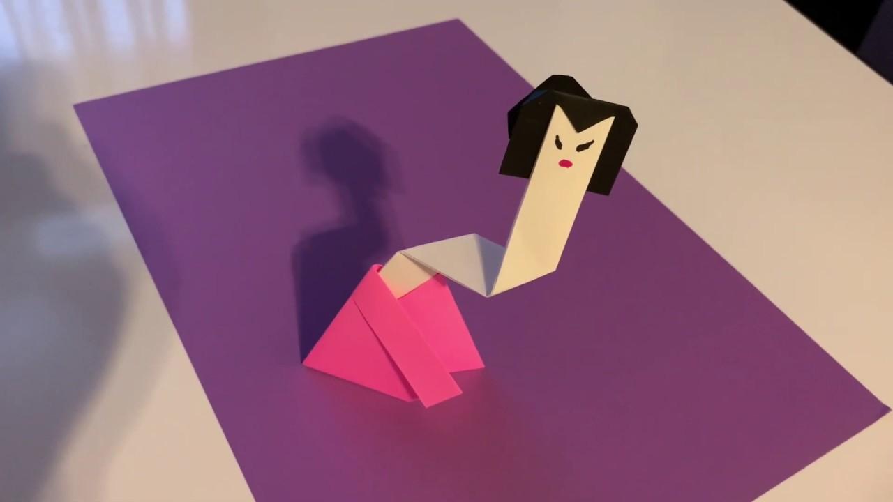 납량특집 오싹 후덜덜 귀여운 호러공포 종이접기 목 늘어난 요괴 종이접기 호러공포접기 호러 종이접기 방구이모 종이접기 horror origami