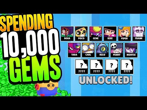 10,000 Gems worth of Mega Boxes | How Many Legendary Brawlers can we get?