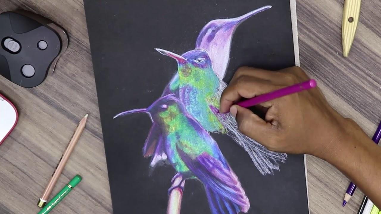 Desenhando Em Folha Preta Speed Drawing Curso Completo De