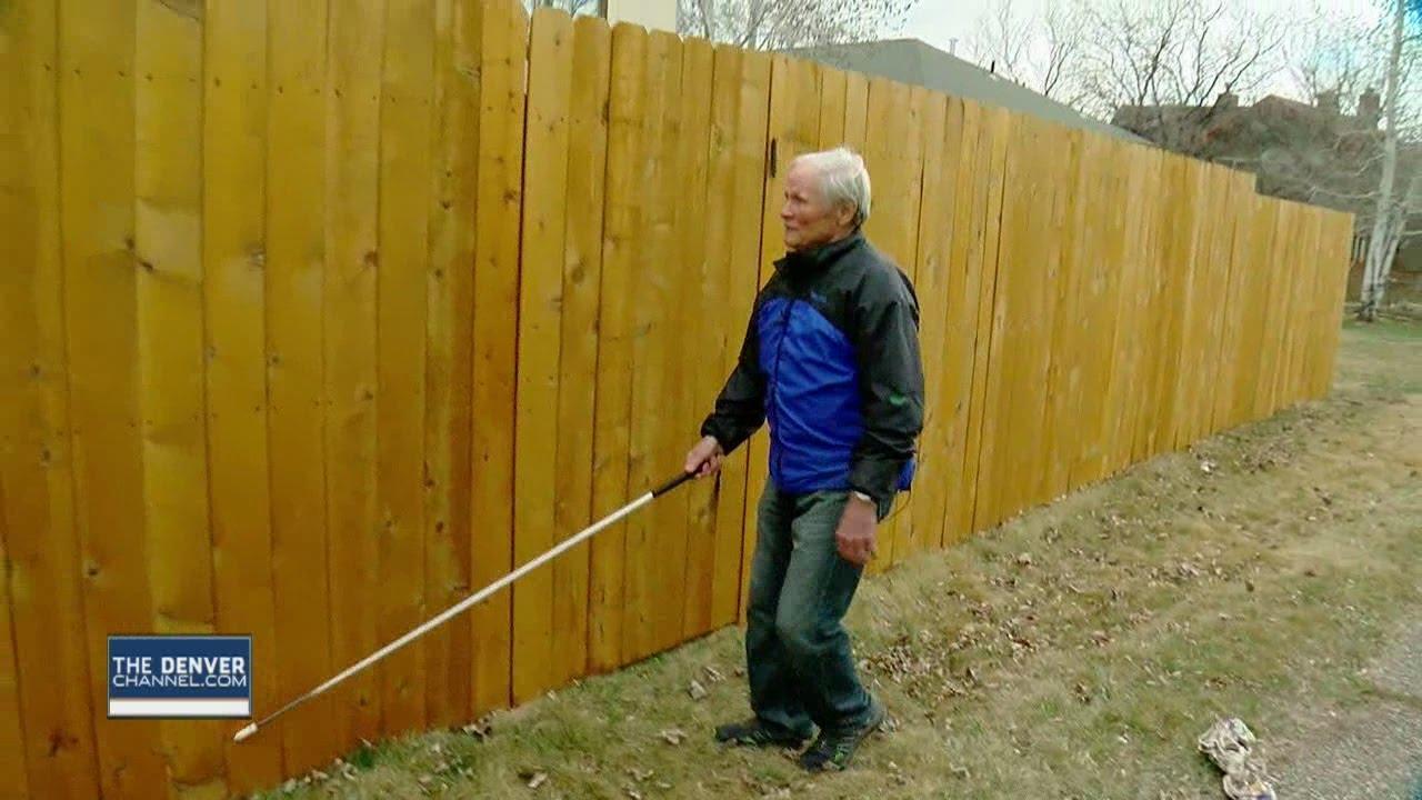 Image result for a blind man on a fence images